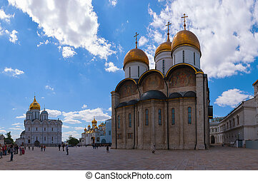 Cathedral square of Kremlin, Moscow - MOSCOW - MAY 24:...