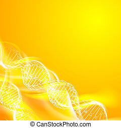 DNA magic figures. - DNA magic figures against orange...