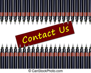 contact us with pens