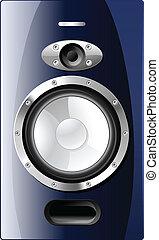 Blue Acoustic Loudspeaker Vector