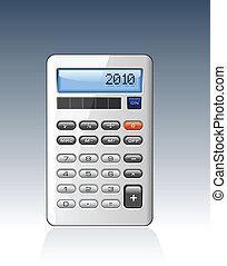 Classic Silver Calculator vector