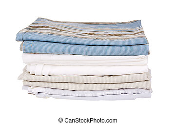 Bedding Isolated - Bedding sheets folded and isolated on...
