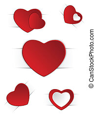 Valentines Day Set of Five Stickers