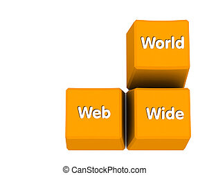 world wide web yellow keys