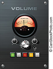 Analog VU indicator Volume Control - Analog VU indicator...