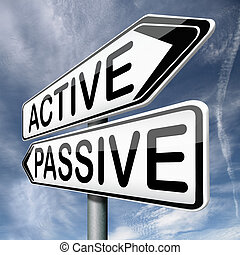 active or passive activity and passivity time for action act...