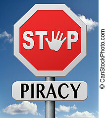 stop piracy and illegal copying copywright and intellectual...
