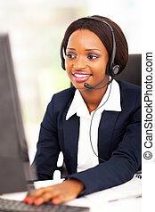 african american online support operator