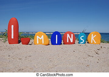 I love Minsk - Souvenir of Minsk, capital of Belarus on...