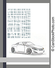 Book 1 - Static composition with the car Will approach for a...