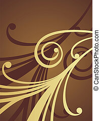 Chocolate pattern 1 - Chocolate pattern on a brown...