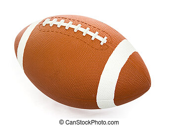 Football Isolated with Path - American football isolated on...