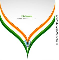 abstract indian flag creative wave concept white background vector