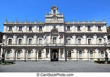 University Catania - the libary of the Catania University,...