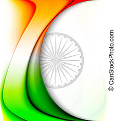Stylish Indian flag colorful background with fantastic wave for Republic Day Vector