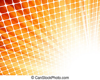 Red yellow rays light 3D mosaic EPS 8 vector file included