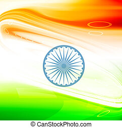 vector stylish indian flag wave design