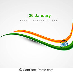 beautiful shiny stylish indian flag wave design