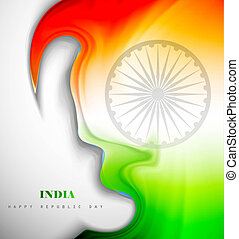fantastic indian flag creative wave vector