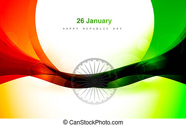 Indian flag for shiny wave vector design