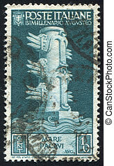 Rostral Column - ITALY - CIRCA 1937: stamp printed by Italy,...