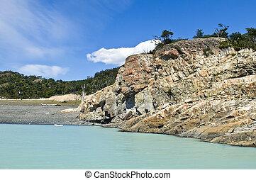 glacial lake in Argentina - glacial lake in Patagonia,...