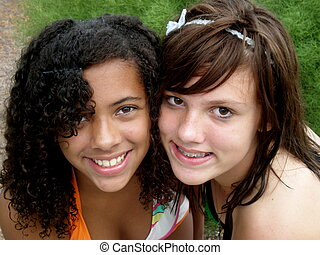 Friends - A picture of two young teen girls together