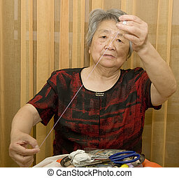 sewing grandma