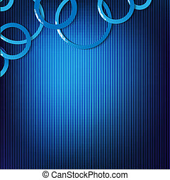 Dynamic Blue Background With Circles, Vector Illustration