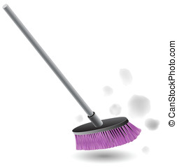 Broom Sweeping Dust