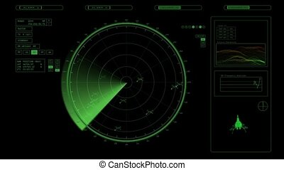 radar screen in green