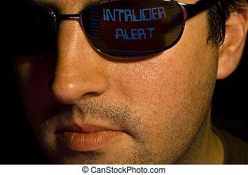 Intruder detected.