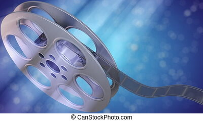 Film Reel - Perfect for background. Seamless clip, green...