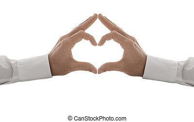 Hands in the form of a heart