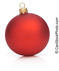 Christmas Red Ball Isolated  on white background
