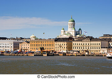 Helsinki harbour  - View of Helsinki from the sea