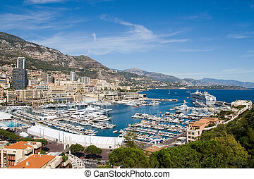 Monaco Harbour - View of Monaco harbour, Monte Carlo