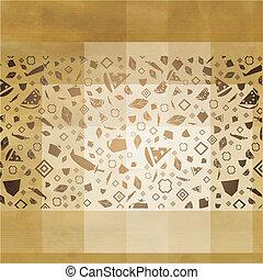 Retro Restaurant Background With Icons