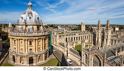 Oxford, England - Radcliffe Camera and All Souls College,...