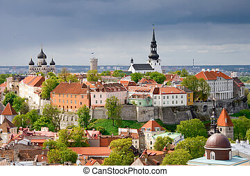 Tallinn. Toompea hill - View of the Toompea hill. Tallinn,...