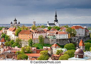 Tallinn. Toompea hill - View of the Toompea hill. Tallinn,...