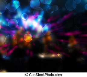 Party Abstract Blue Background