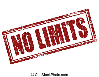 No limits stamp - No limit grunge rubber stamp,vector...