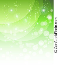 abstract green background with waves