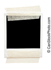 Taped Blank Picture Frame - Empty frame taped with masking...