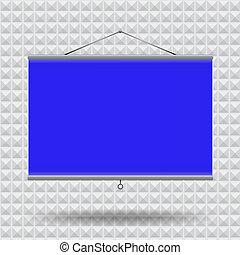Meeting room screen projector