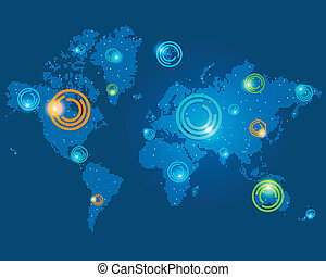points on the world map