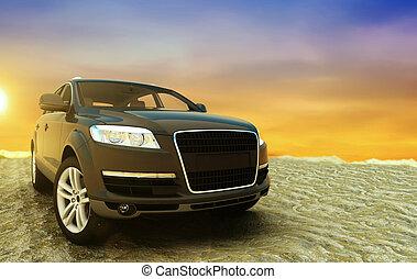 Black Car Sunrise