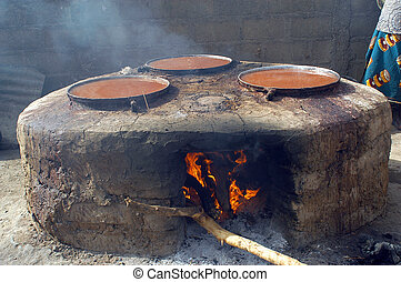 cooking of the dolo in Burkina Faso The dolo is the local...