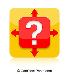 Question mark with arrows - Question mark with different...